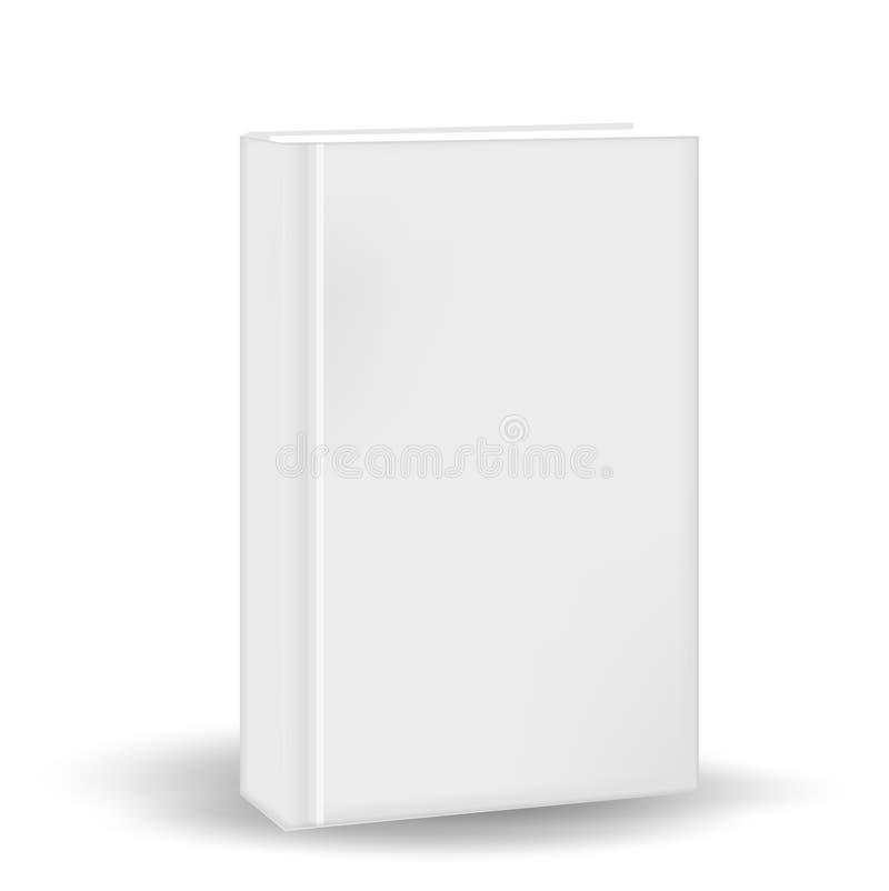 Boek in een realistische, 3D stijl Model voor uw ontwerp Geïsoleerdj op witte achtergrond Vector illustratie stock illustratie