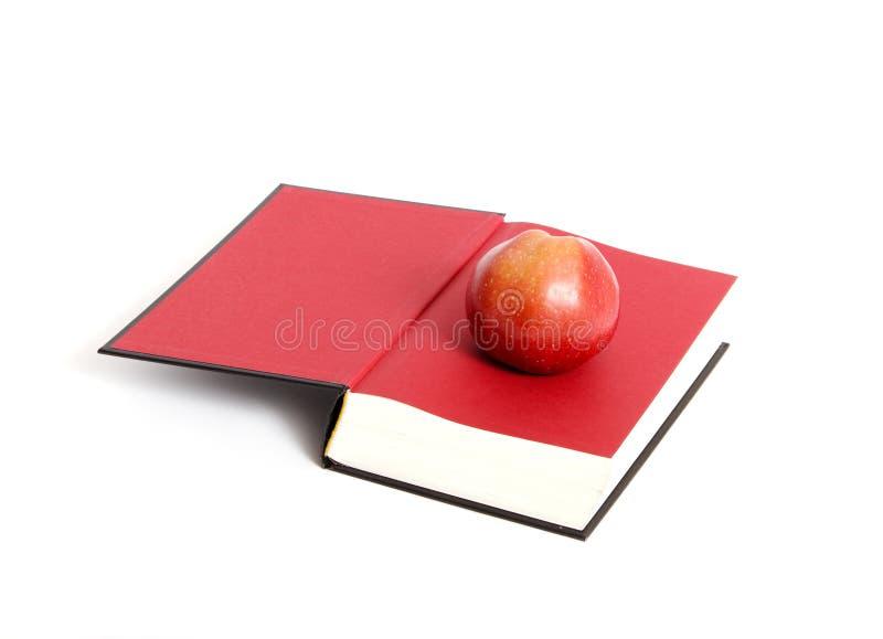 Boek en appel. royalty-vrije stock afbeeldingen
