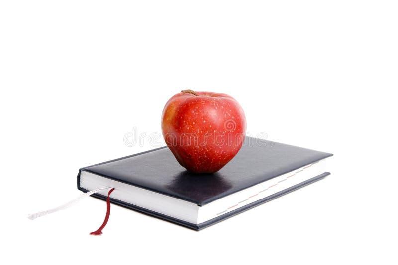 Boek en appel. royalty-vrije stock foto