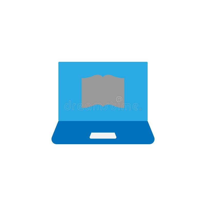 Boek en computerpictogram Element van onderwijspictogram voor mobiel concept en Web apps Het gedetailleerde Boek en computerpicto stock illustratie