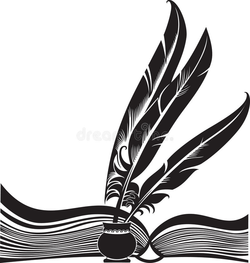 Boek en schachten vector illustratie