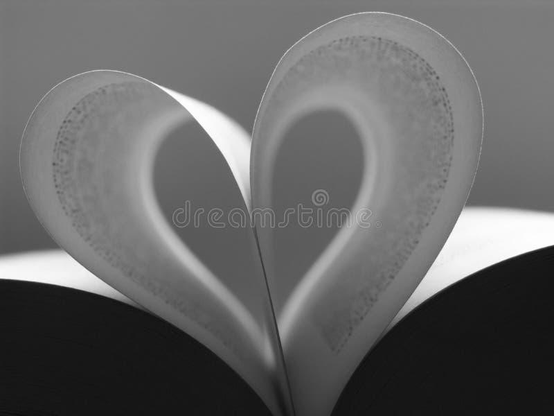 Boek hart royalty-vrije stock fotografie