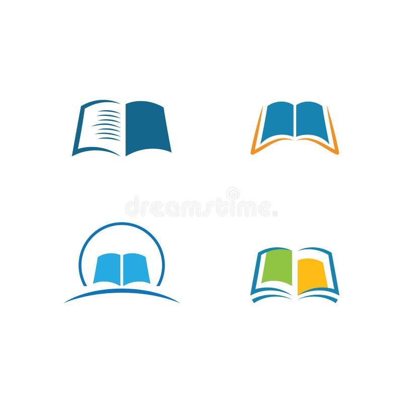Boek Logo Template stock illustratie