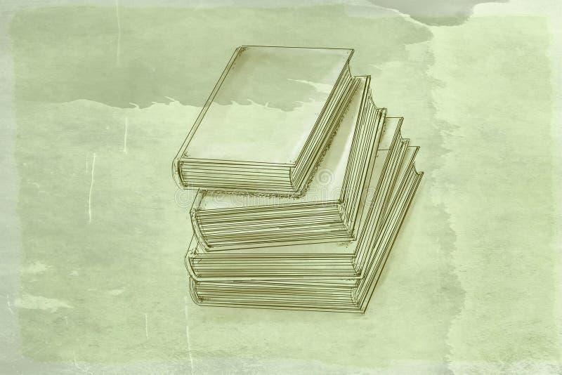 Boek met antieke basis vector illustratie