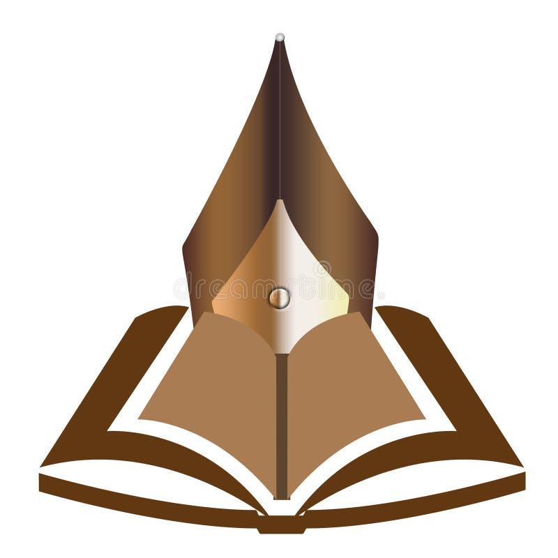 Boek met de Illustratie van de Pen. royalty-vrije illustratie
