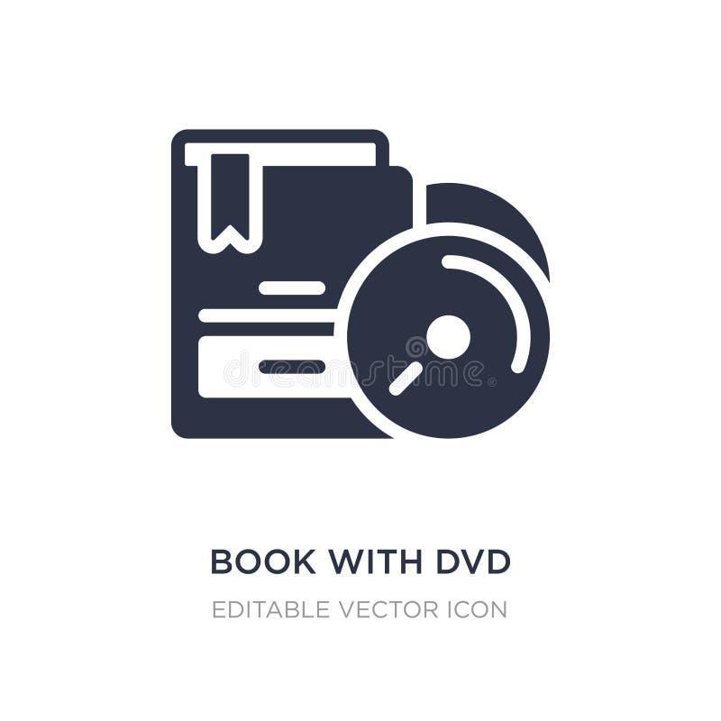 boek met dvdpictogram op witte achtergrond Eenvoudige elementenillustratie van Handelsconcept vector illustratie