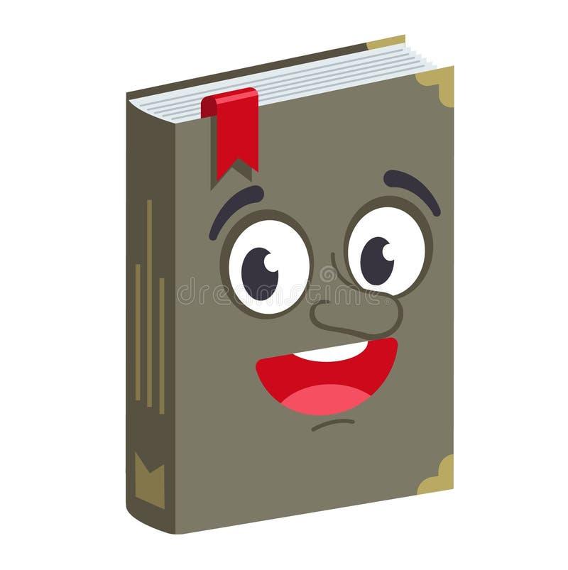 Boek met een blij gezicht royalty-vrije illustratie