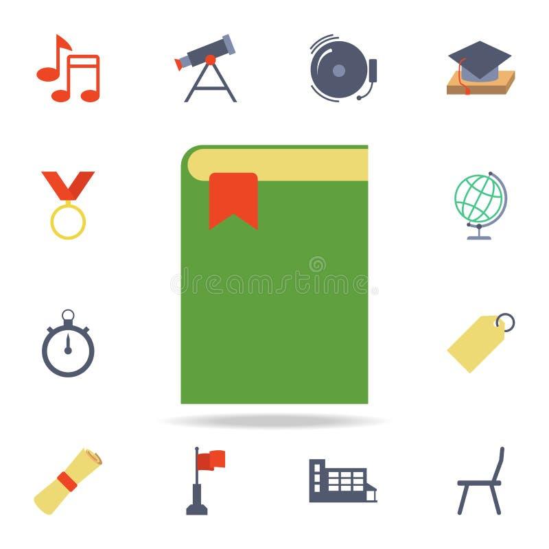 boek met een referentie gekleurd pictogram Gedetailleerde reeks gekleurde onderwijspictogrammen Premie grafisch ontwerp Één van d vector illustratie