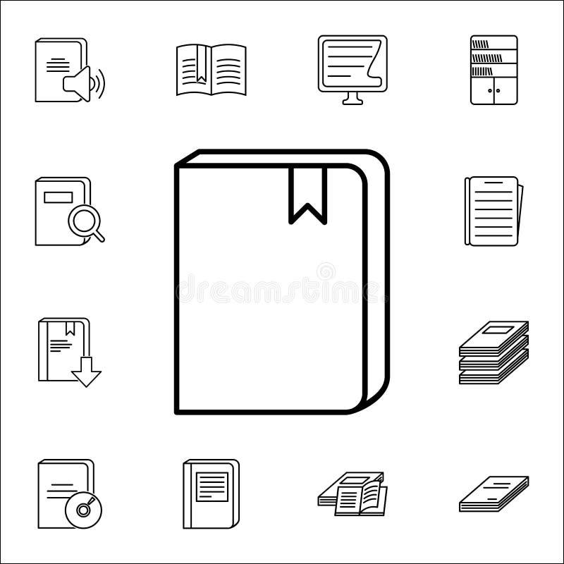 boek met een referentiepictogram Boeken en tijdschriften voor Web wordt geplaatst dat en mobiel pictogrammenalgemeen begrip royalty-vrije illustratie
