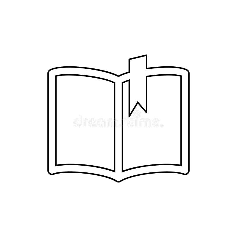 boek met een referentiepictogram Element van Web voor mobiel concept en webtoepassingenpictogram Dun lijnpictogram voor websiteon vector illustratie