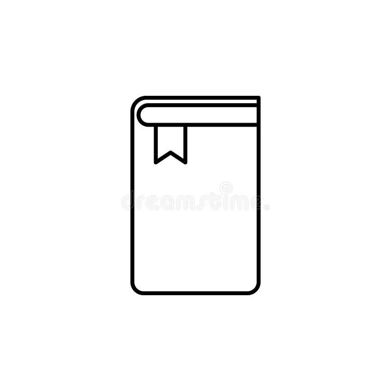boek met een referentiepictogram Element van Webpictogram voor mobiele concep royalty-vrije illustratie