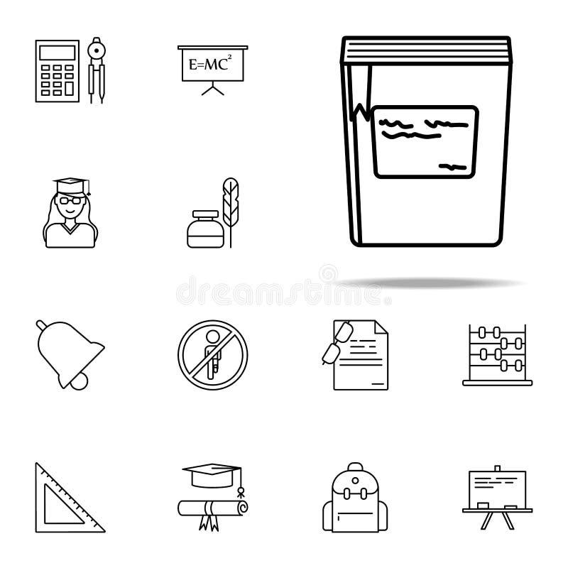 boek met een referentiepictogram Voor Web wordt geplaatst dat en het mobiele algemene begrip van onderwijspictogrammen vector illustratie