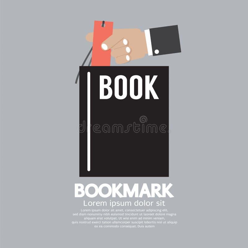 Boek met In Hand Referentie vector illustratie