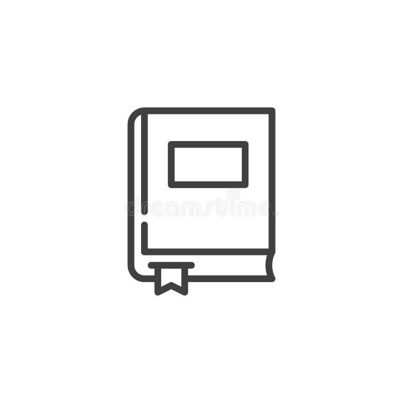 Boek met het pictogram van de referentielijn stock illustratie