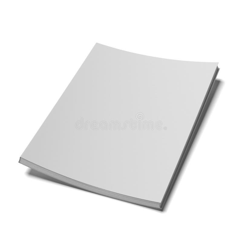 Boek met lege dekking stock illustratie