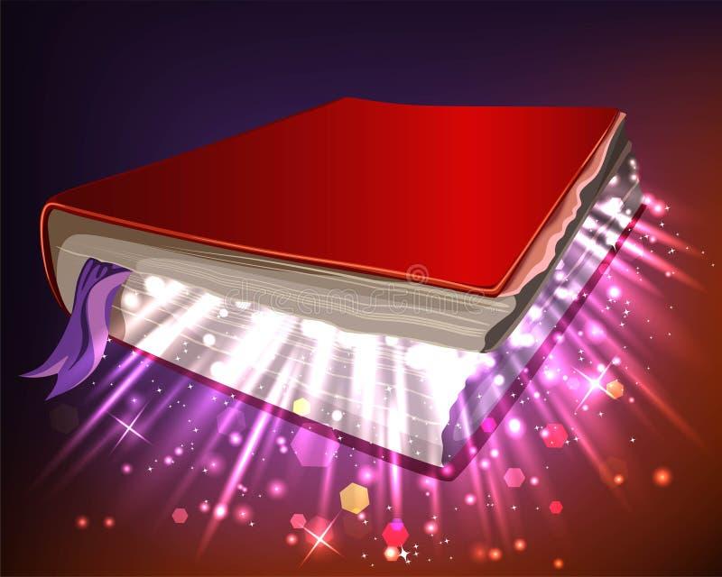 Boek met magische bevoegdheden royalty-vrije illustratie