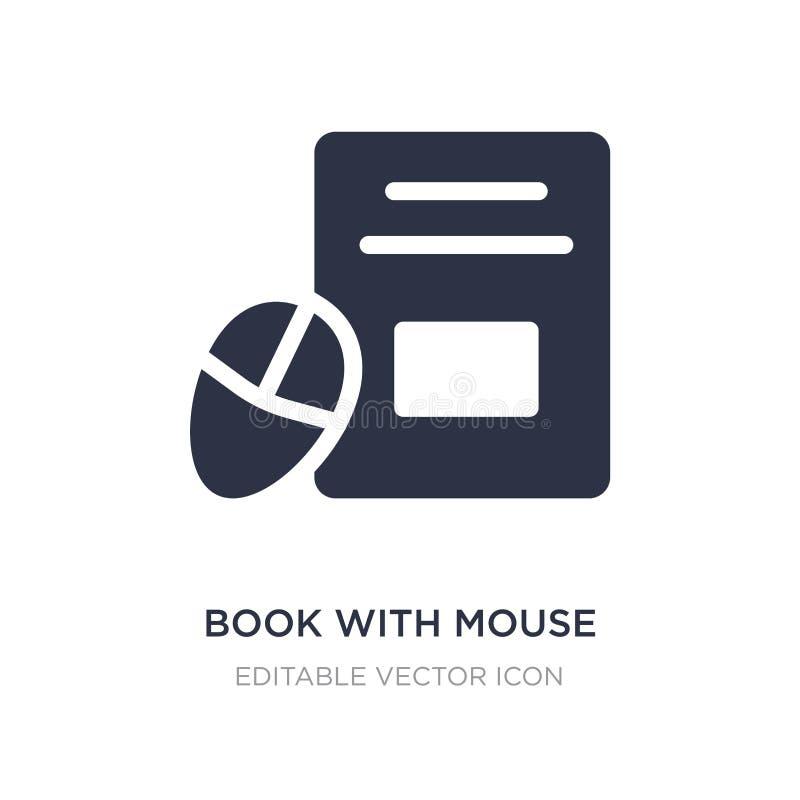 boek met muispictogram op witte achtergrond Eenvoudige elementenillustratie van Hulpmiddelen en werktuigenconcept vector illustratie
