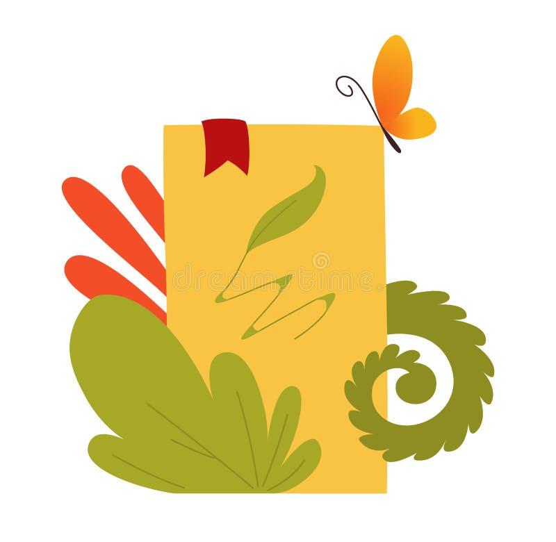 Boek met reeks vectorsprookjeelementen, pictogrammen en illustraties, de affiche van het boekfestival, het ontwerp van de boekdek vector illustratie