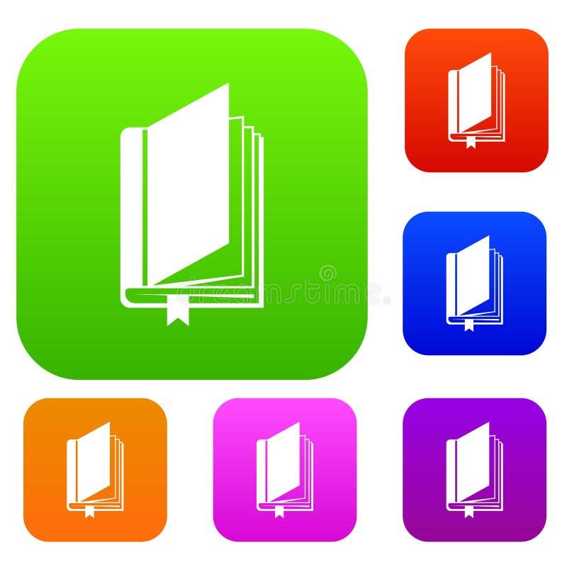 Boek met referentie vastgestelde inzameling vector illustratie