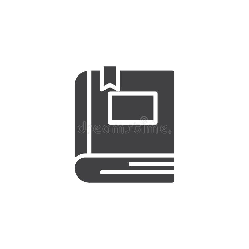 Boek met referentie vectorpictogram vector illustratie