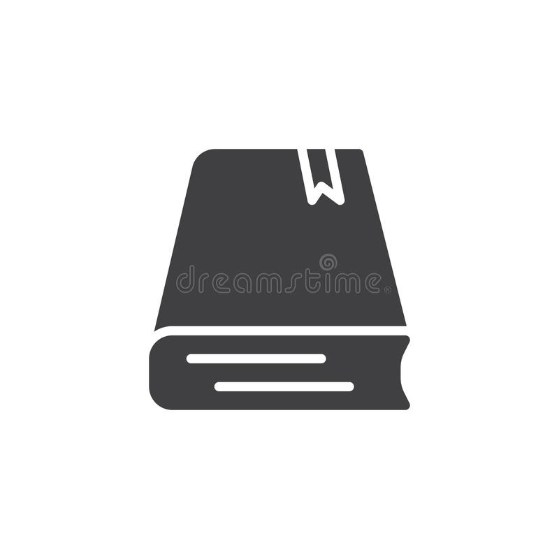 Boek met referentie vectorpictogram stock illustratie