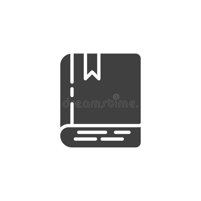 Boek met referentie vectorpictogram royalty-vrije illustratie