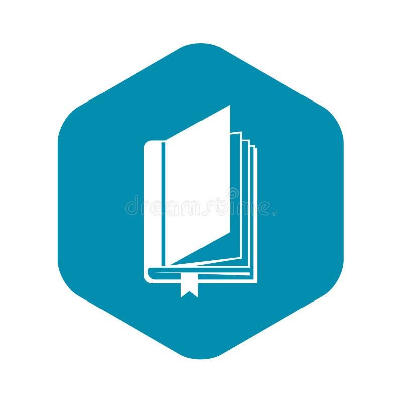 Boek met referentiepictogram, eenvoudige stijl stock illustratie