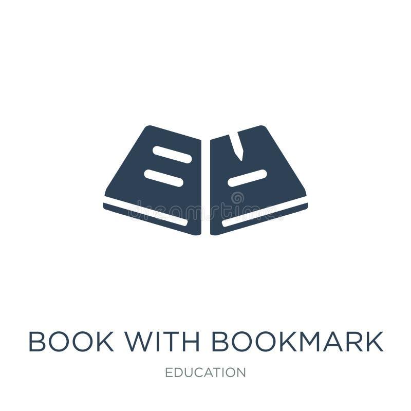 boek met referentiepictogram in in ontwerpstijl boek met referentiepictogram op witte achtergrond wordt geïsoleerd die boek met r royalty-vrije illustratie