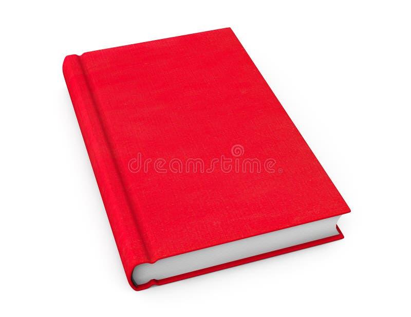 Boek met rode lege dekking royalty-vrije stock foto