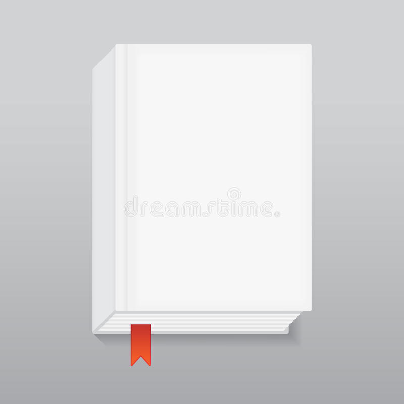 Boek met rode referentie vector illustratie