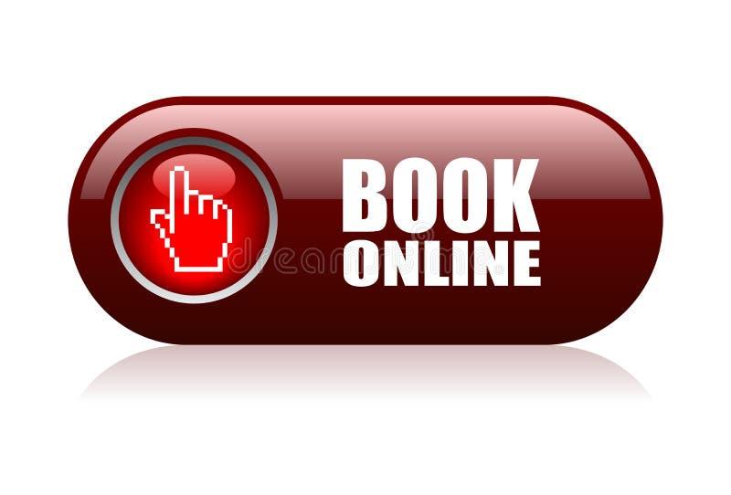 Boek online stock illustratie