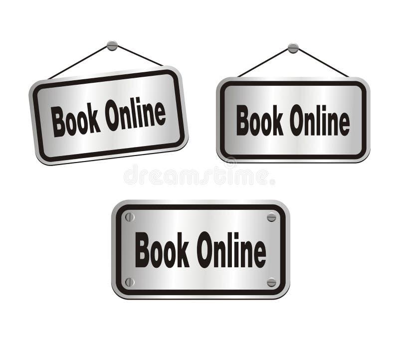 Boek online - zilveren tekens vector illustratie