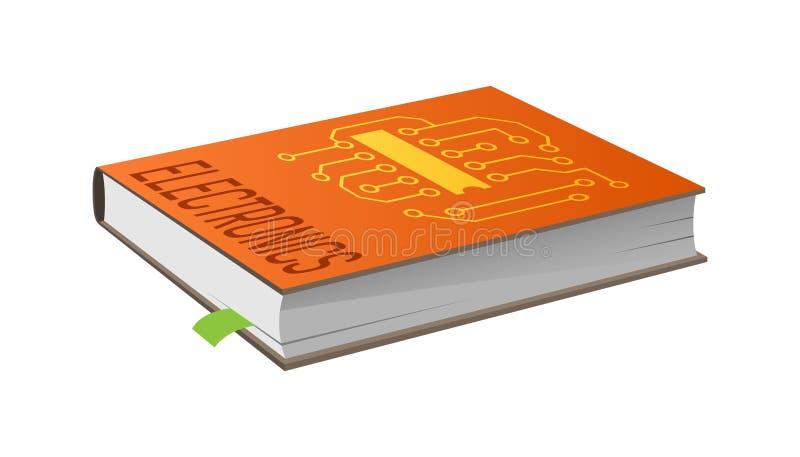 Boek op Elektronika met Referentie Vectorillustratie royalty-vrije illustratie