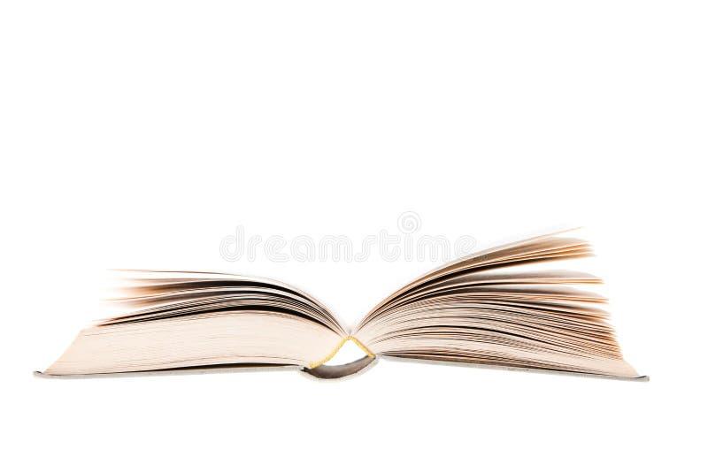 Boek op wit wordt geïsoleerd dat stock foto's