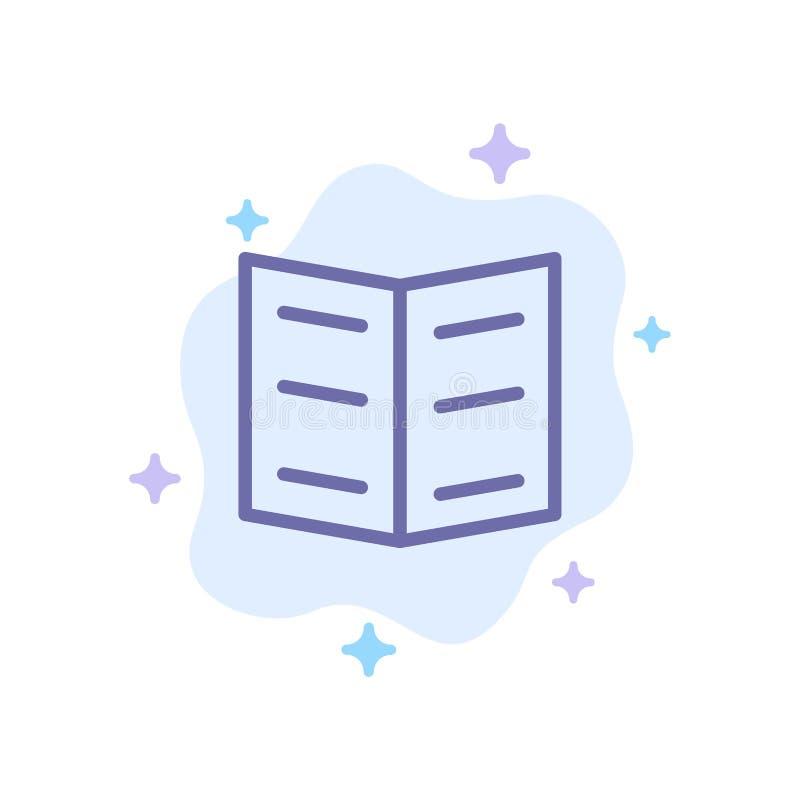 Boek, Referentie, Onderwijs Blauw Pictogram op Abstracte Wolkenachtergrond royalty-vrije illustratie