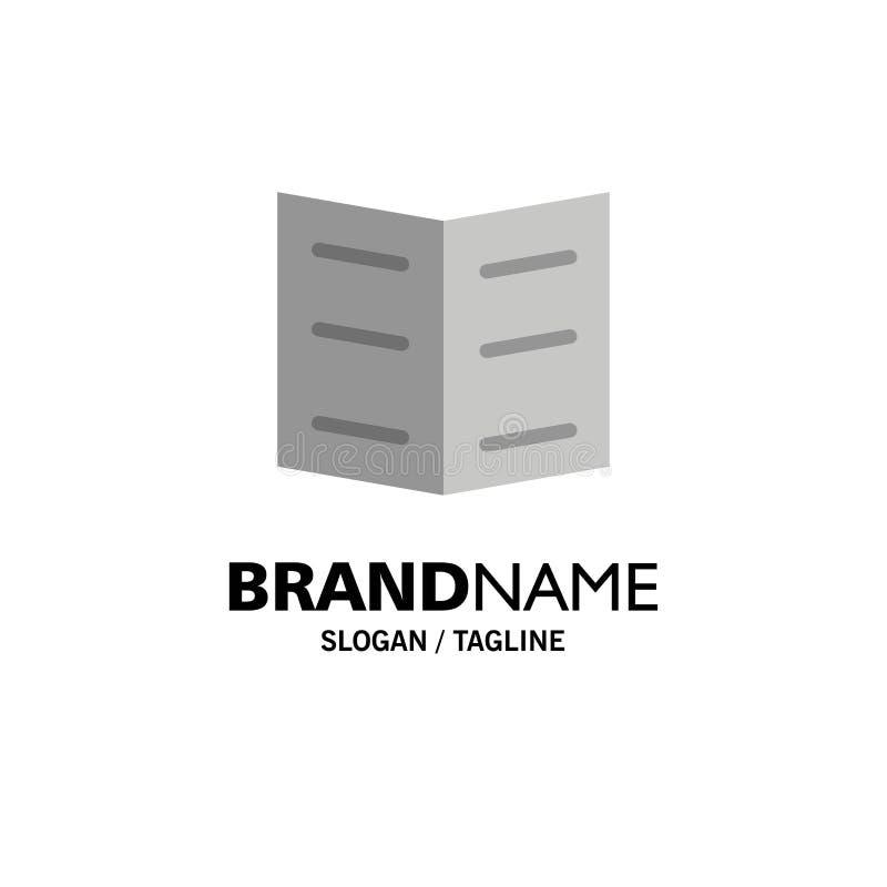 Boek, Referentie, Onderwijszaken Logo Template vlakke kleur royalty-vrije illustratie
