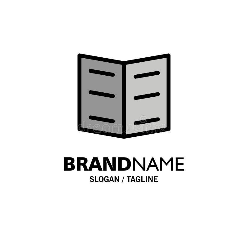 Boek, Referentie, Onderwijszaken Logo Template vlakke kleur vector illustratie