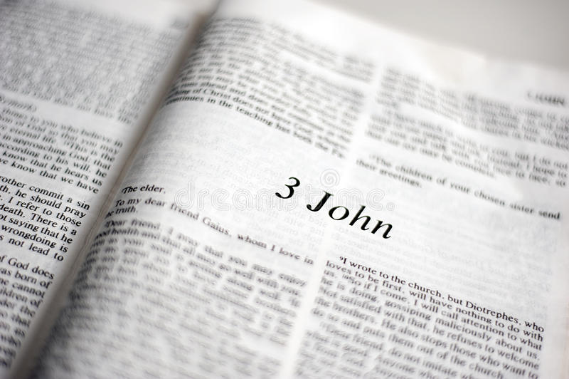 Boek van 3 John royalty-vrije stock fotografie