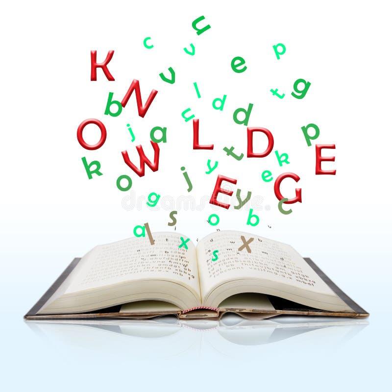 Boek van kennis stock afbeeldingen