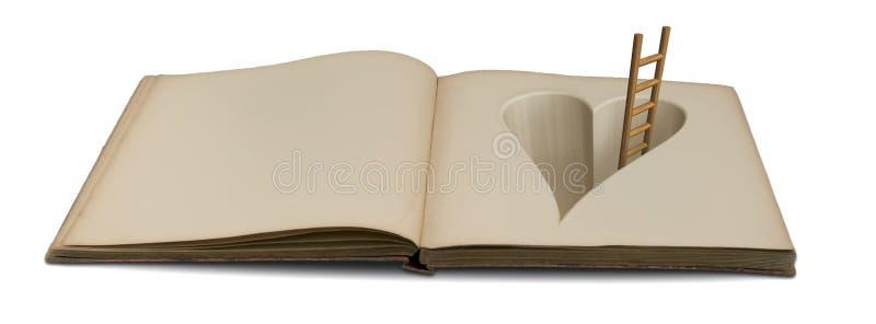 Boek van liefde royalty-vrije stock foto