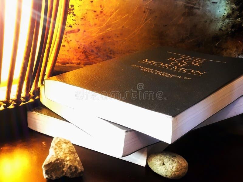 Boek van Mormoon royalty-vrije stock foto's