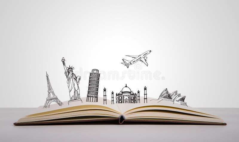Boek van reis stock illustratie
