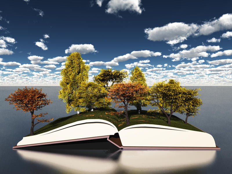 Boek van seizoenen royalty-vrije illustratie