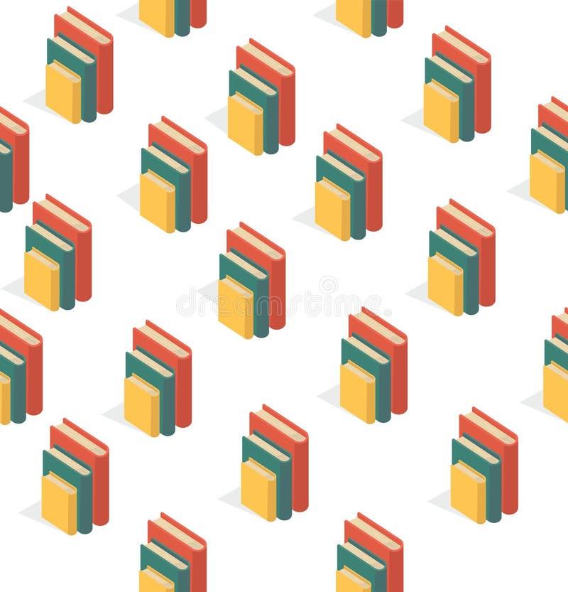 Boek van stapels Naadloos patroon royalty-vrije illustratie