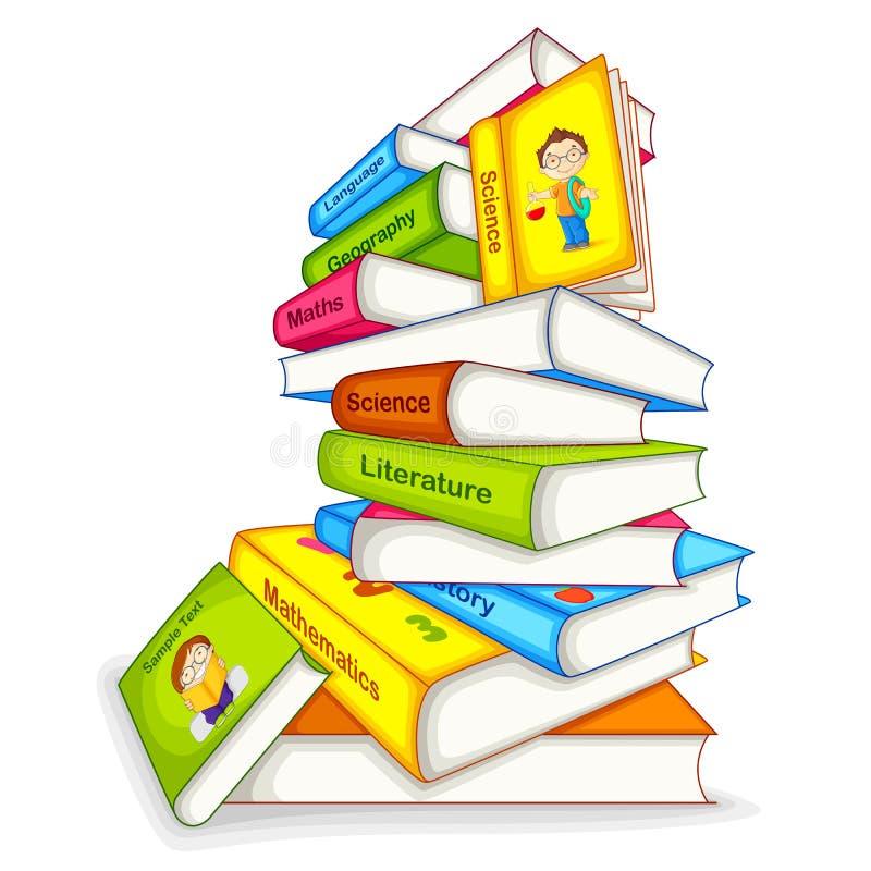 Boek van verschillend Onderwerp stock illustratie