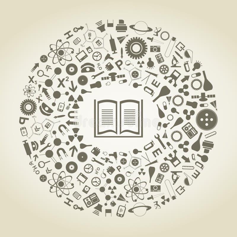 Boek van wetenschappen royalty-vrije illustratie
