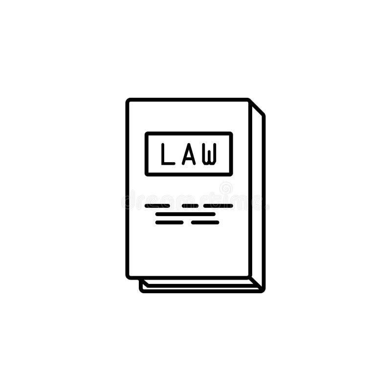 boek van wettenpictogram Element van misdaad en strafpictogram voor mobiel concept en Web apps Het dunne lijnboek van wettenpicto royalty-vrije illustratie