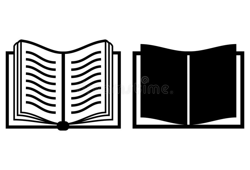 Boek vectorpictogram stock illustratie