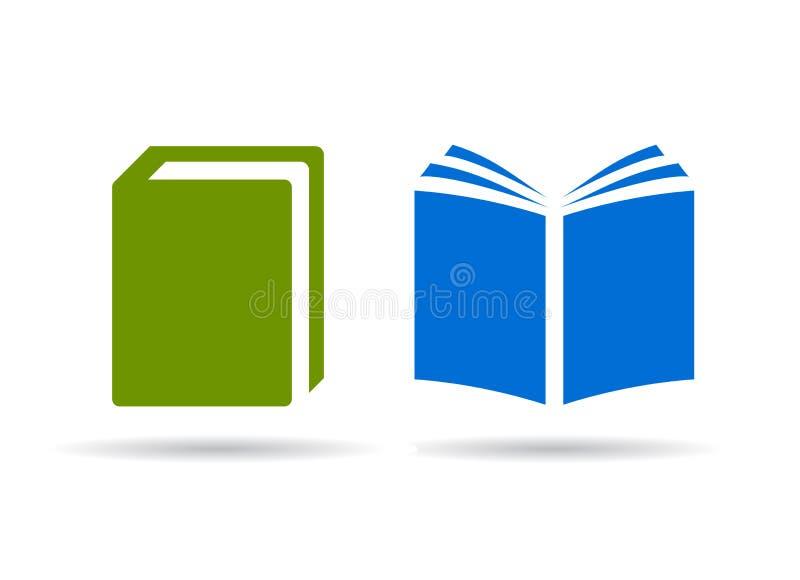 Boek vectorpictogrammen royalty-vrije illustratie
