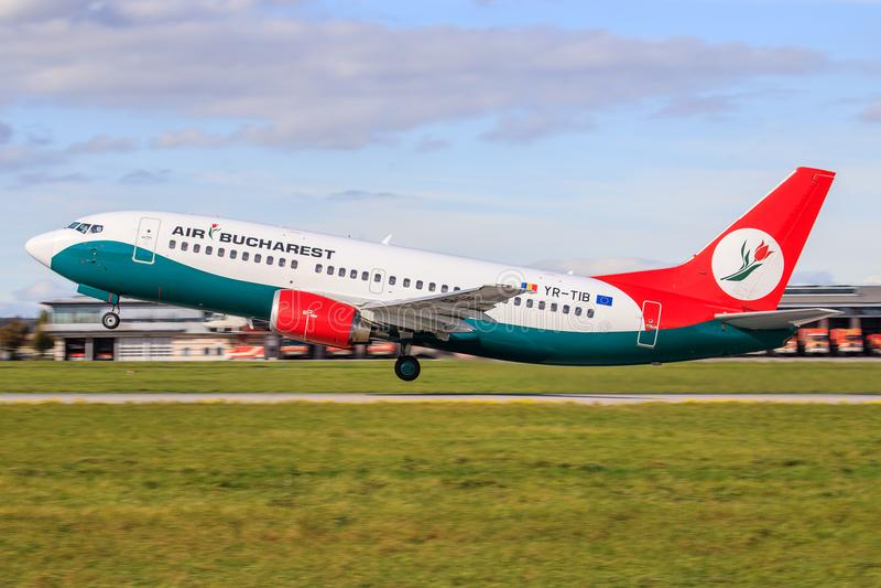 Boekarest Boeing 737 royalty-vrije stock fotografie